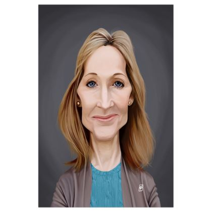 J.K Rowling Celebrity Caricature Art Print