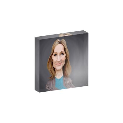 J.K Rowling Celebrity Caricature Acrylic Photo Blocks