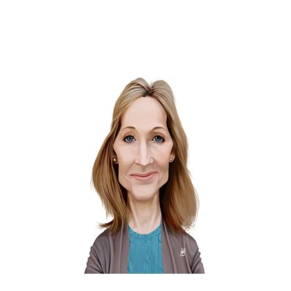 J.K Rowling Celebrity Caricature Ladies Cut and Sew Vest