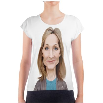 J.K Rowling Celebrity Caricature Ladies T Shirt