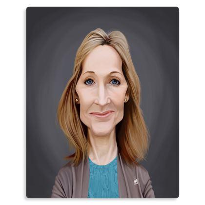 J.K Rowling Celebrity Caricature Metal Print