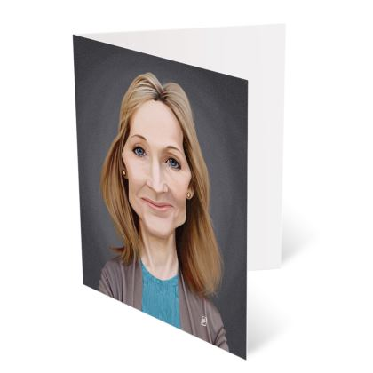 J.K Rowling Celebrity Caricature Occasions Cards