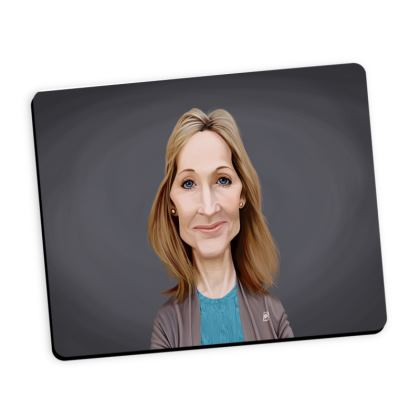 J.K Rowling Celebrity Caricature Mouse Mat