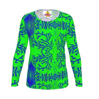 KORALLE GRÜN ninibing34 DESIGNER Slim-Fit T-Shirt - alle Größen -