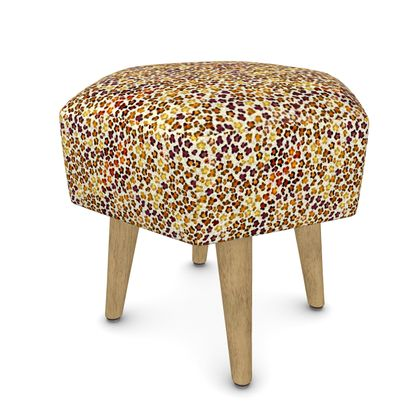 Leopard Skin Collection Footstool (Round, Square, Hexagonal)
