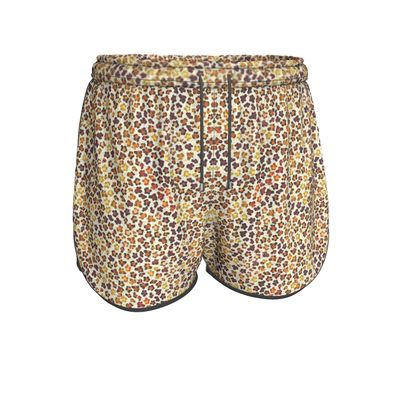 Leopard Skin Collection Womens Running Shorts
