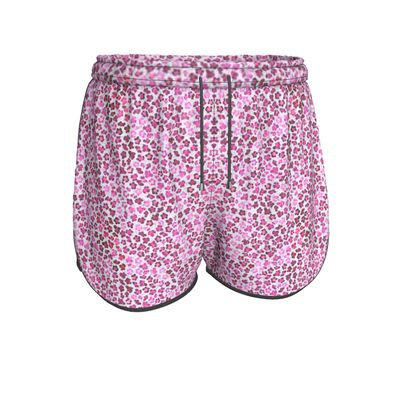 Leopard Skin in Magenta Collection Womens Running Shorts