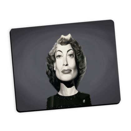 Joan Crawford Celebrity Caricature Mouse Mat