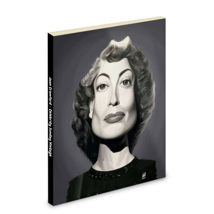 Joan Crawford Celebrity Caricature Pocket Note Book