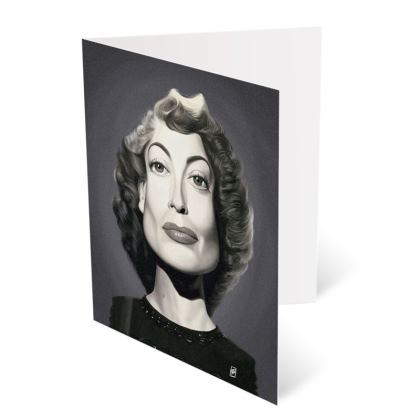 Joan Crawford Celebrity Caricature Occasions Cards