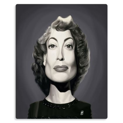 Joan Crawford Celebrity Caricature Metal Print