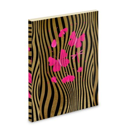 Pocket Note Book - Emmeline Anne Stripes and Butterflies