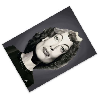 Joan Crawford Celebrity Caricature Postcard