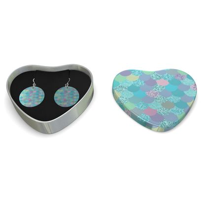 Sterling Silver Earrings - Emmeline Anne Sparkly Shells