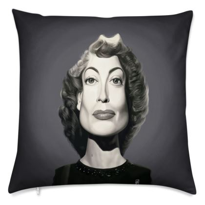 Joan Crawford Celebrity Caricature Cushion