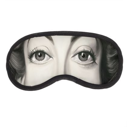 Joan Crawford Celebrity Caricature Eye Mask