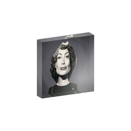 Joan Crawford Celebrity Caricature Acrylic Photo Blocks
