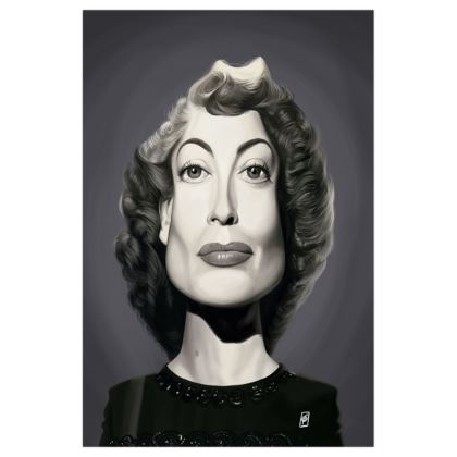 Joan Crawford Celebrity Caricature Art Print