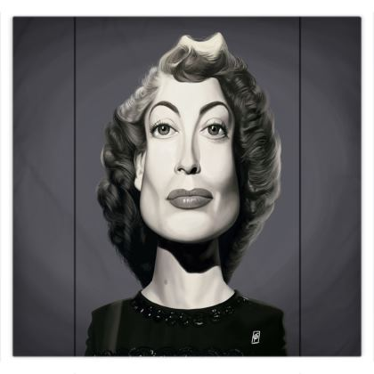 Joan Crawford Celebrity Caricature Duvet Covers