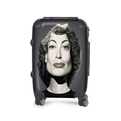 Joan Crawford Celebrity Caricature Suitcase