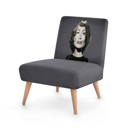 Joan Crawford Celebrity Caricature Occasional Chair
