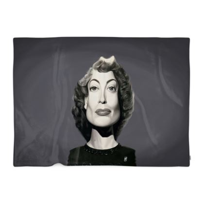 Joan Crawford Celebrity Caricature Blanket