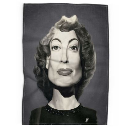 Joan Crawford Celebrity Caricature Tea Towels