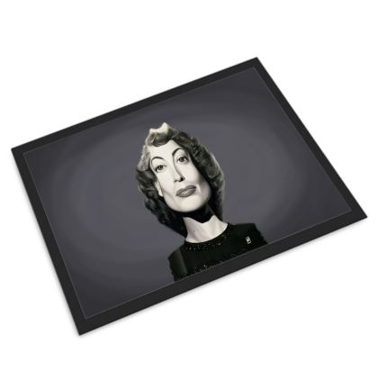 Joan Crawford Celebrity Caricature Door Mat
