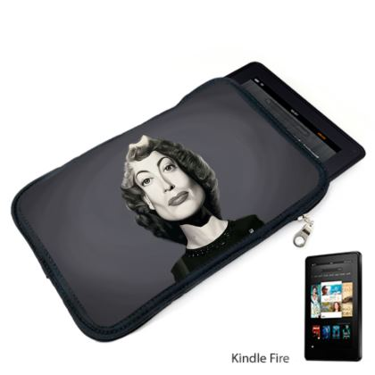 Joan Crawford Celebrity Caricature Kindle Case