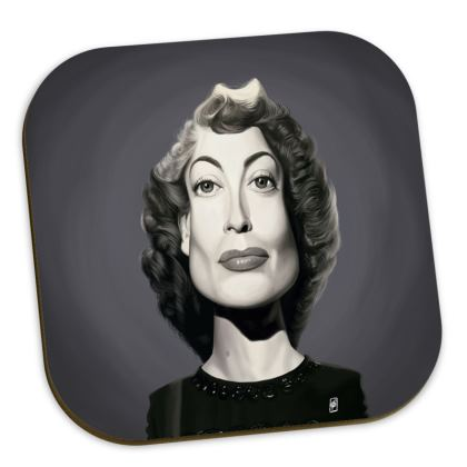 Joan Crawford Celebrity Caricature Coasters