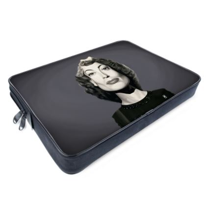 Joan Crawford Celebrity Caricature Laptop Bags