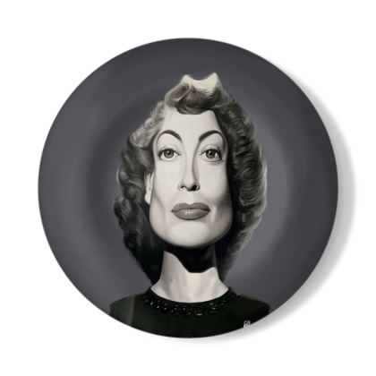 Joan Crawford Celebrity Caricature Decorative Plate