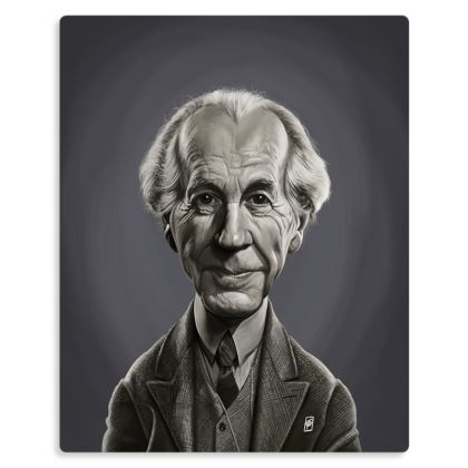 Frank Lloyd Wright Celebrity Caricature Metal Print