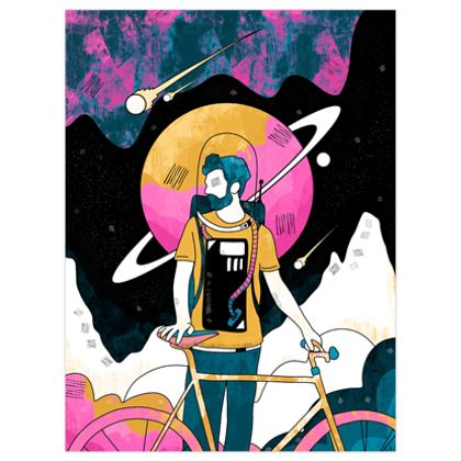 The space messenger poster print