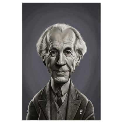 Frank Lloyd Wright Celebrity Caricature Art Print