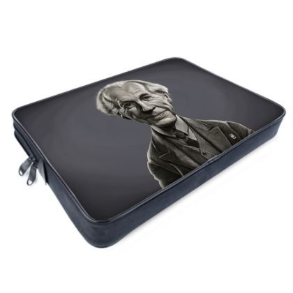 Frank Lloyd Wright Celebrity Caricature Laptop Bags