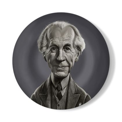 Frank Lloyd Wright Celebrity Caricature Decorative Plate