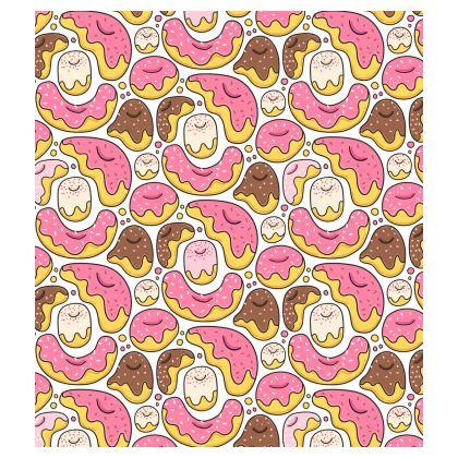 Funny cartoon donuts Skater Dress