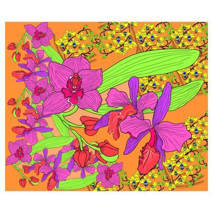 Orchid Zip Top Handbag