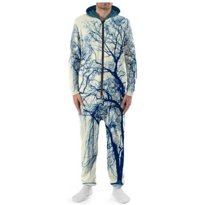 Blue Trees Cut and Sew Onesie