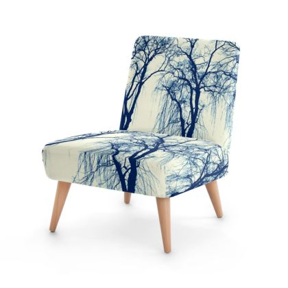 Blue Trees Occasional Chair