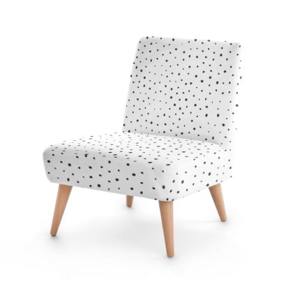 Black Rose and Pyramid Occasional Chair