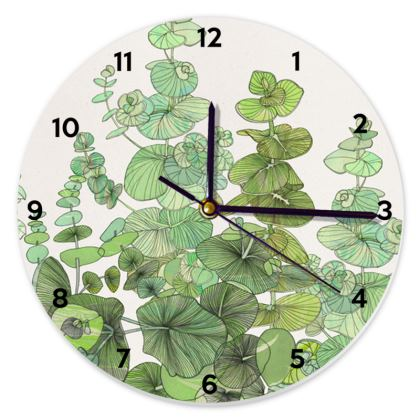 Eucalyptus Round Clock
