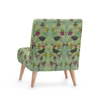 U0027My Little Green Spaceu0027 Occasional Chairs. A Unique Designer Chair From The  U0027My Little Green Spaceu0027 Collection, Featuring Blackbirds And Flowers In  On Trend ...