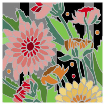 Chrysanthemum Coasters