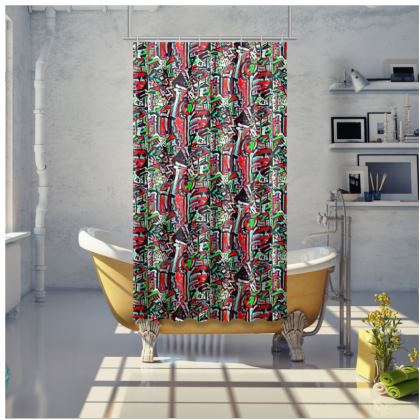 Funky Pop-Shower Curtain I