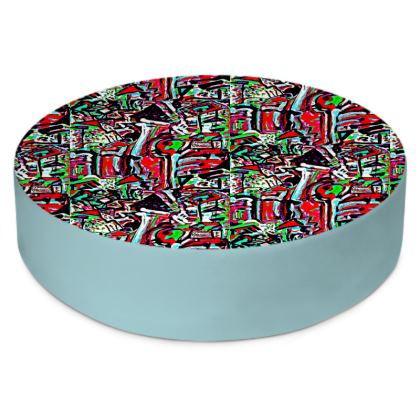 Funky Pop-Round Floor Cushion I