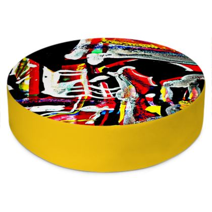 Funky Pop-Round Floor Cushion V