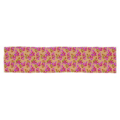 Scarf [135 cm x 31 cm shown] Butterscotch, Pink,  Slipstream  Butterscotch