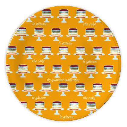 "China Plate ""Le Gâteau"" (Yellow)"